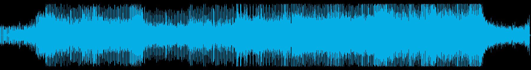 シンセが絡み合う明るいポップスの再生済みの波形