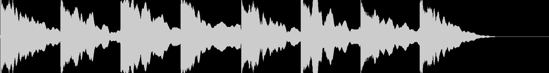 エレキギター クリーン ゆったりの未再生の波形