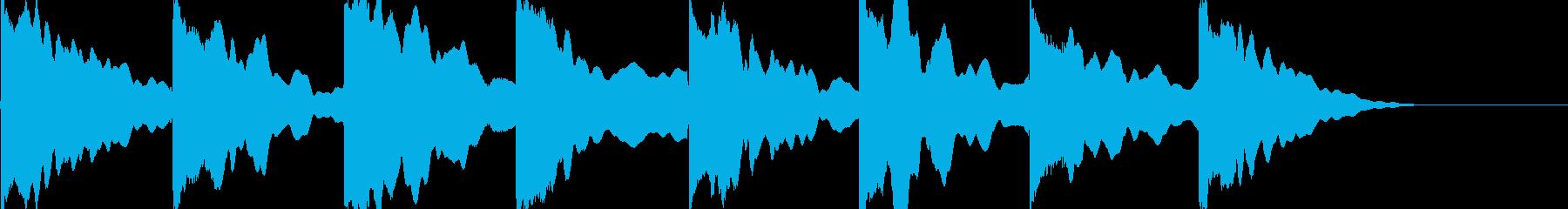 エレキギター クリーン ゆったりの再生済みの波形