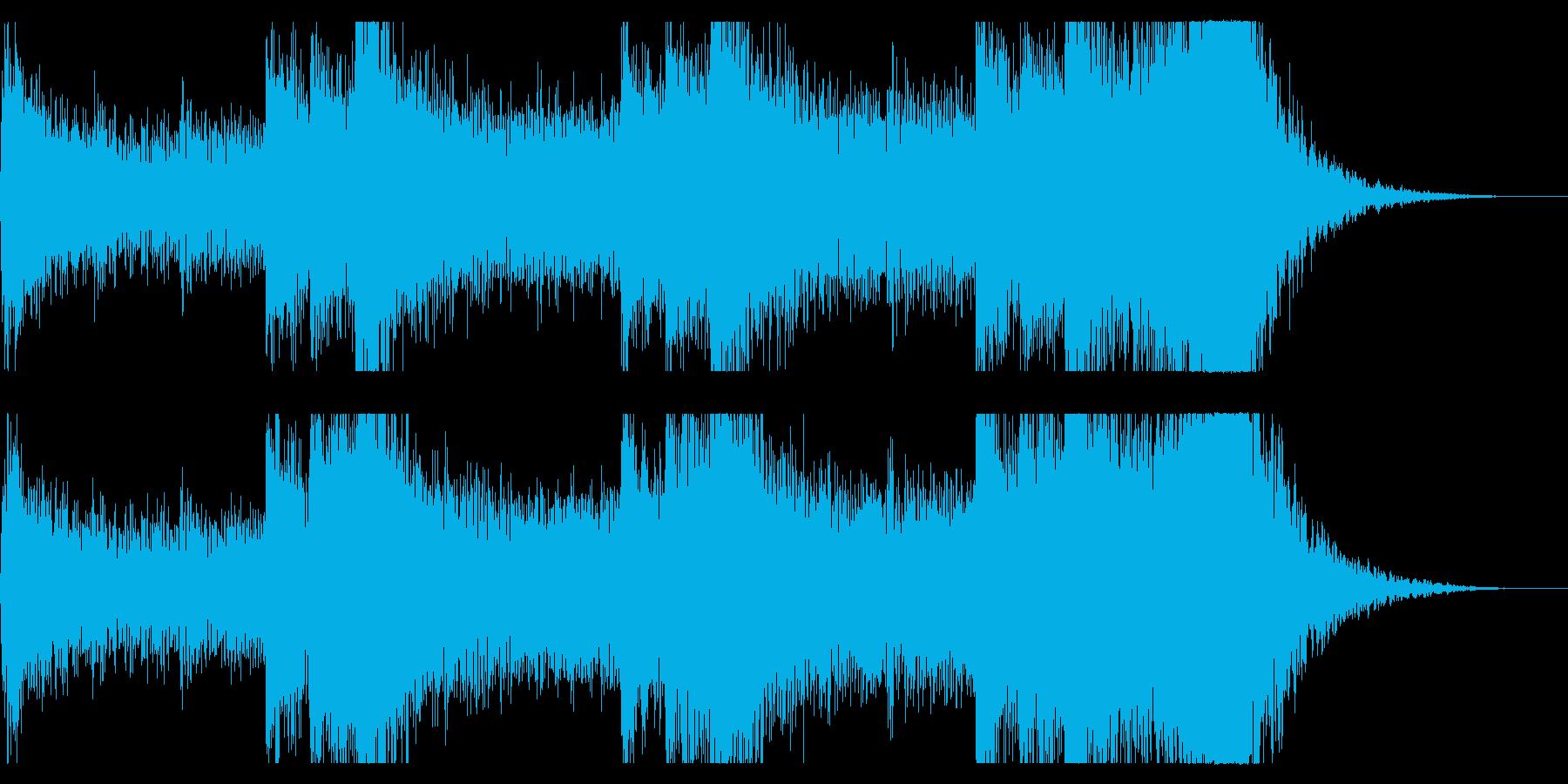 音楽、ベインステム、ドローン、ベル...の再生済みの波形