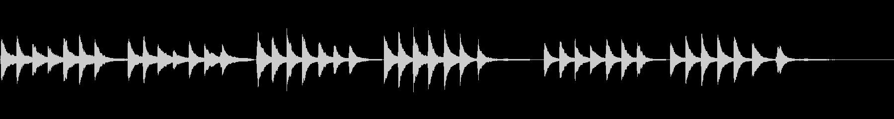 静かなピアノ小品の未再生の波形