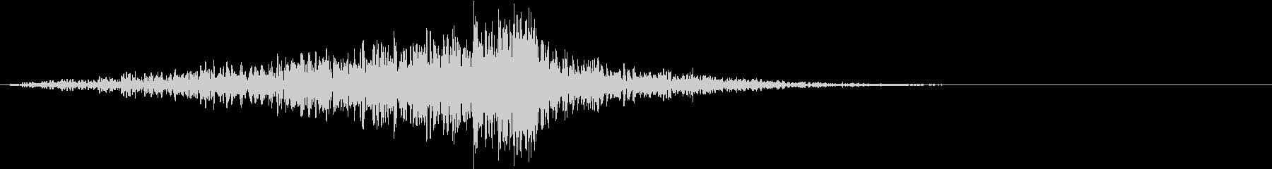 築き上がる音の未再生の波形