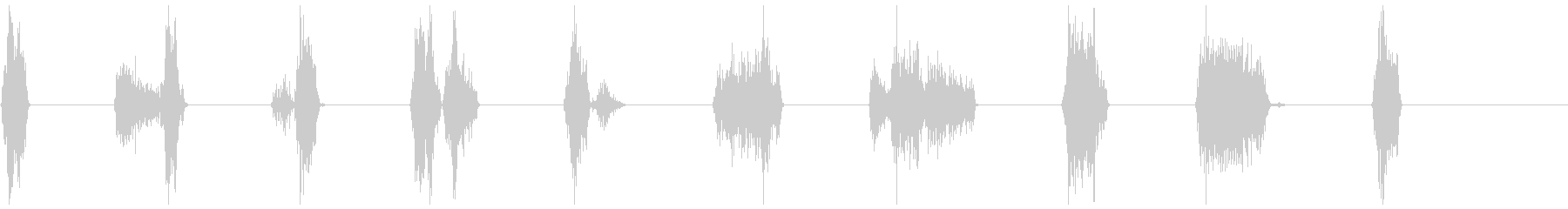 モンスター、タイプ2、Ro音1-10の未再生の波形