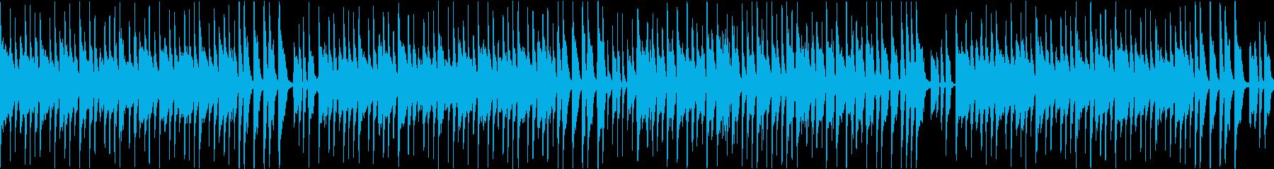 コミカルな料理番組風音楽(ループの再生済みの波形
