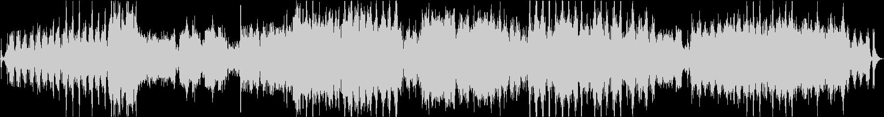 低音重視の重厚で物々しいオーケストラの未再生の波形
