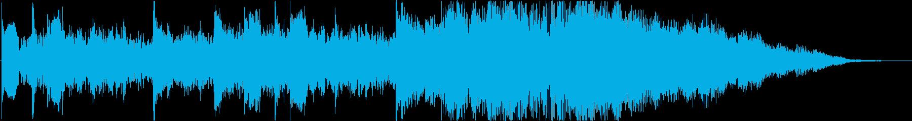 【ジングル】ニュース、ドキュメンタリー風の再生済みの波形