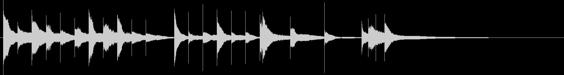オープニング(グロッケンのジングル)の未再生の波形
