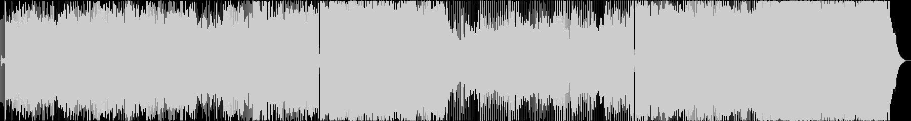 シャッフルビートのギターロックの未再生の波形