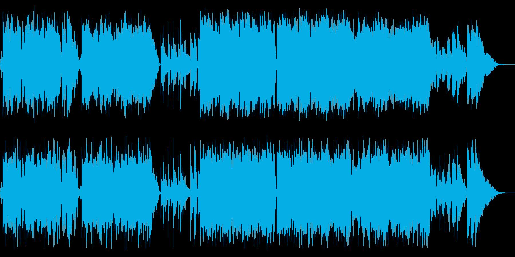 感動的な琴とバイオリンの和風バラードcの再生済みの波形