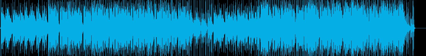 優しくドラマチックな展開のBGMの再生済みの波形