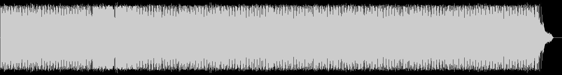 スピード感あるシンセサイザーの曲の未再生の波形