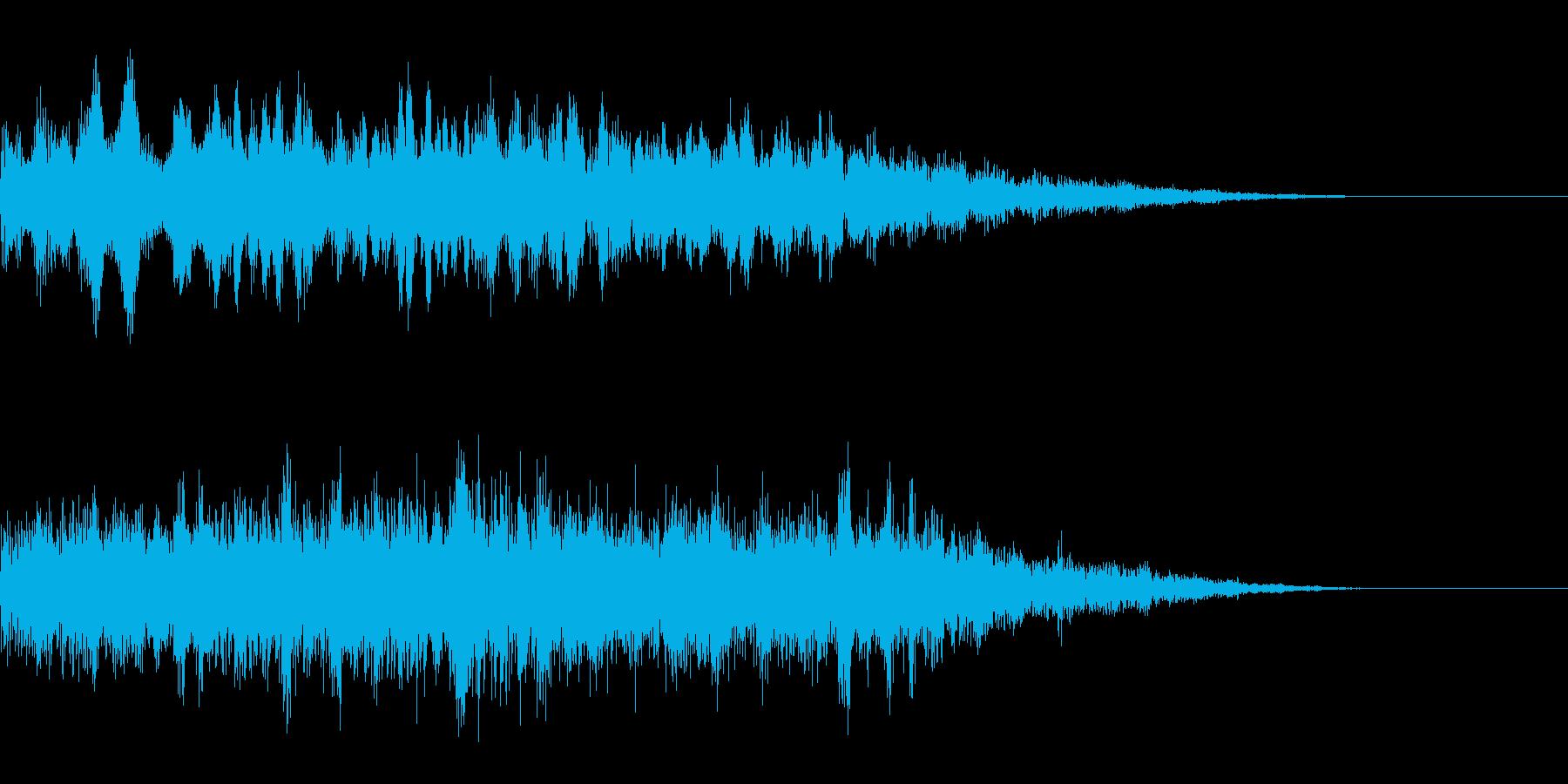 怪奇現象系アイキャッチの再生済みの波形