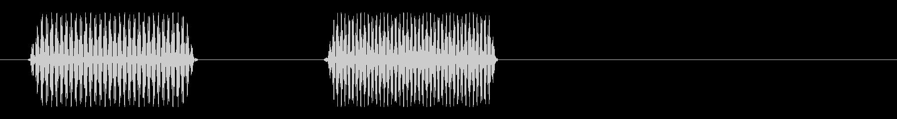 ポピッ(電子音)シンプルの未再生の波形