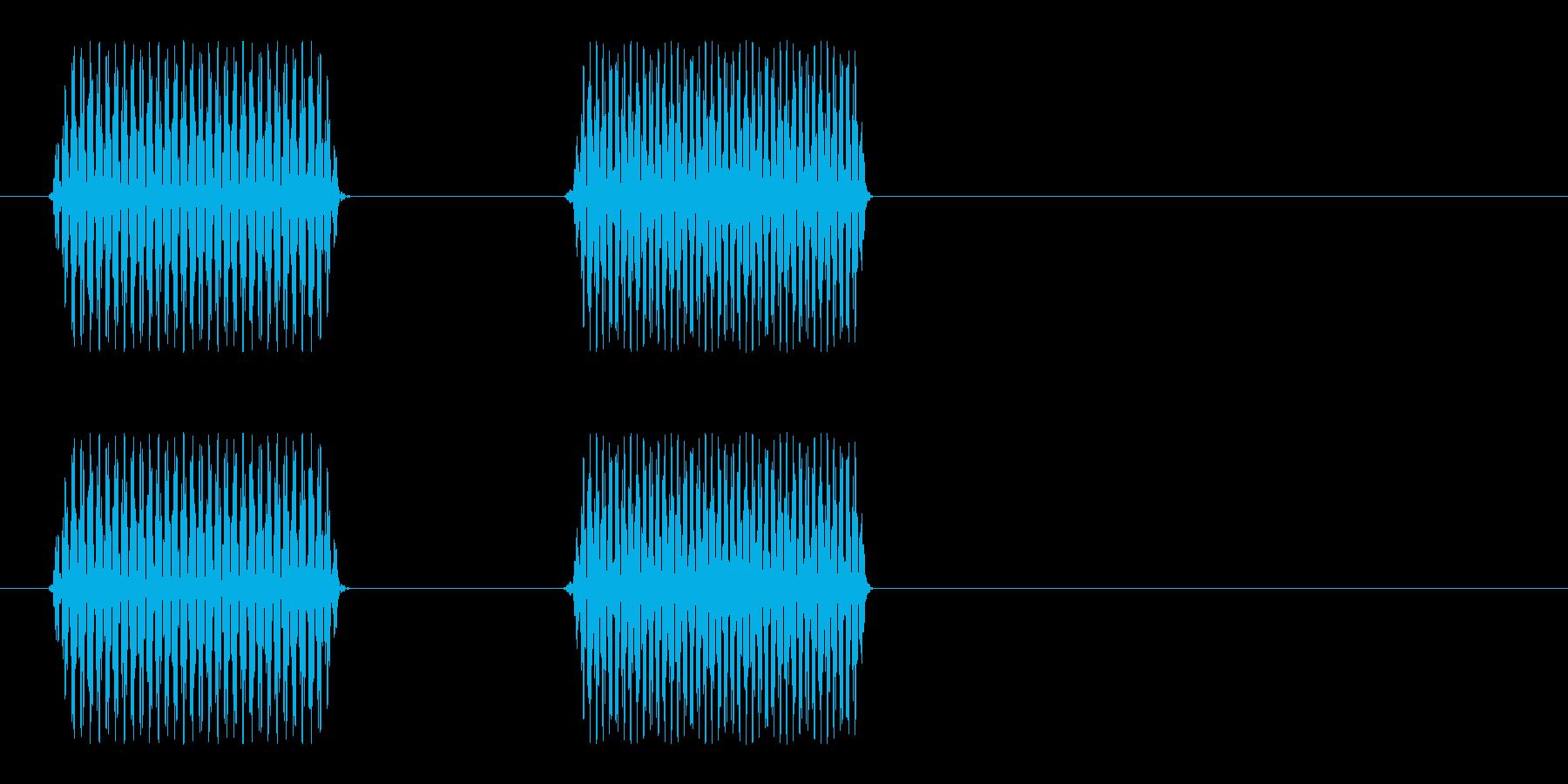 ポピッ(電子音)シンプルの再生済みの波形