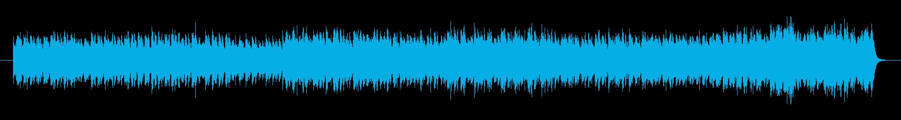 軽快なアップテンポのポップスの再生済みの波形