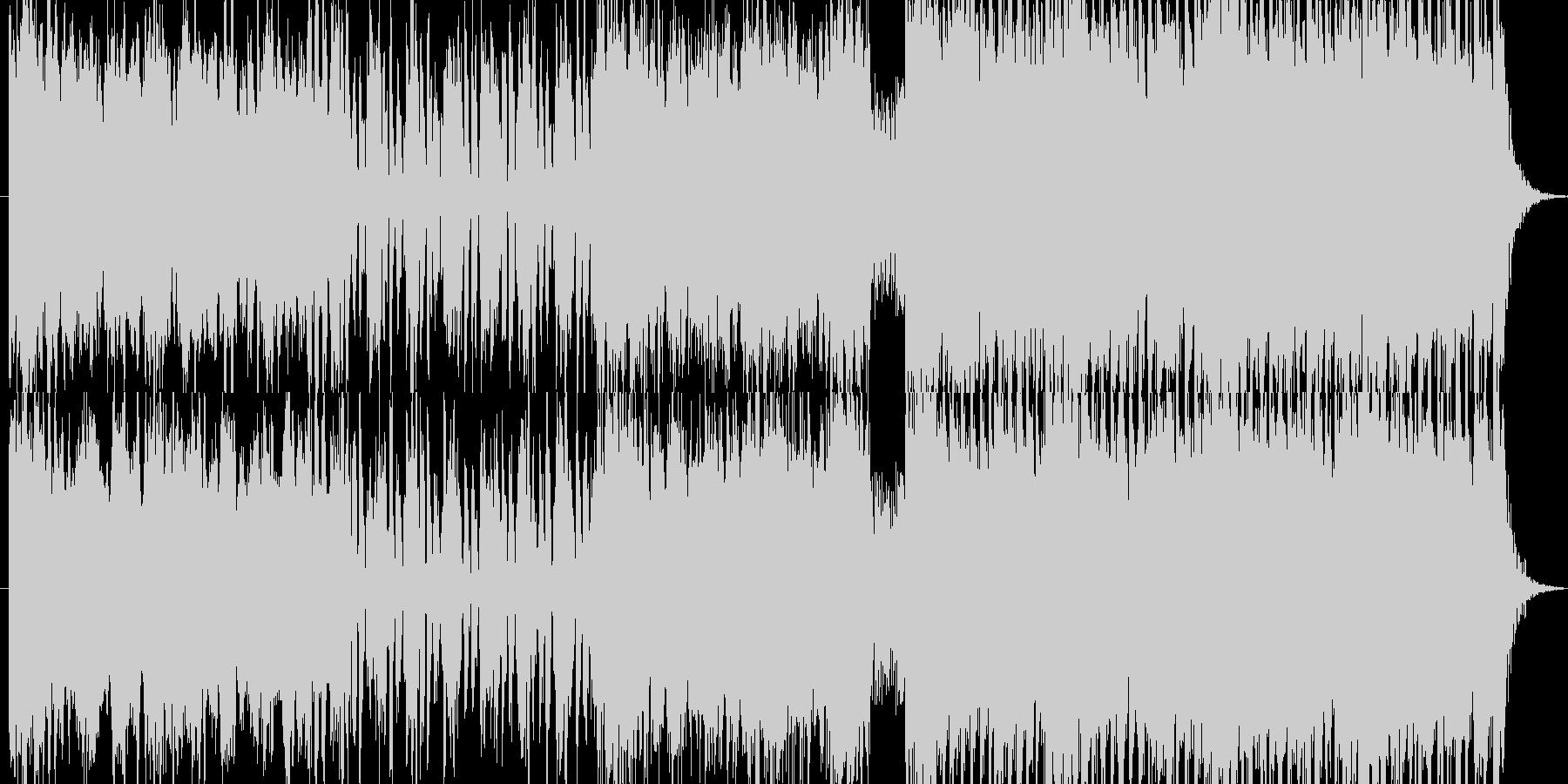 緩急のある爽やか系EDMの未再生の波形