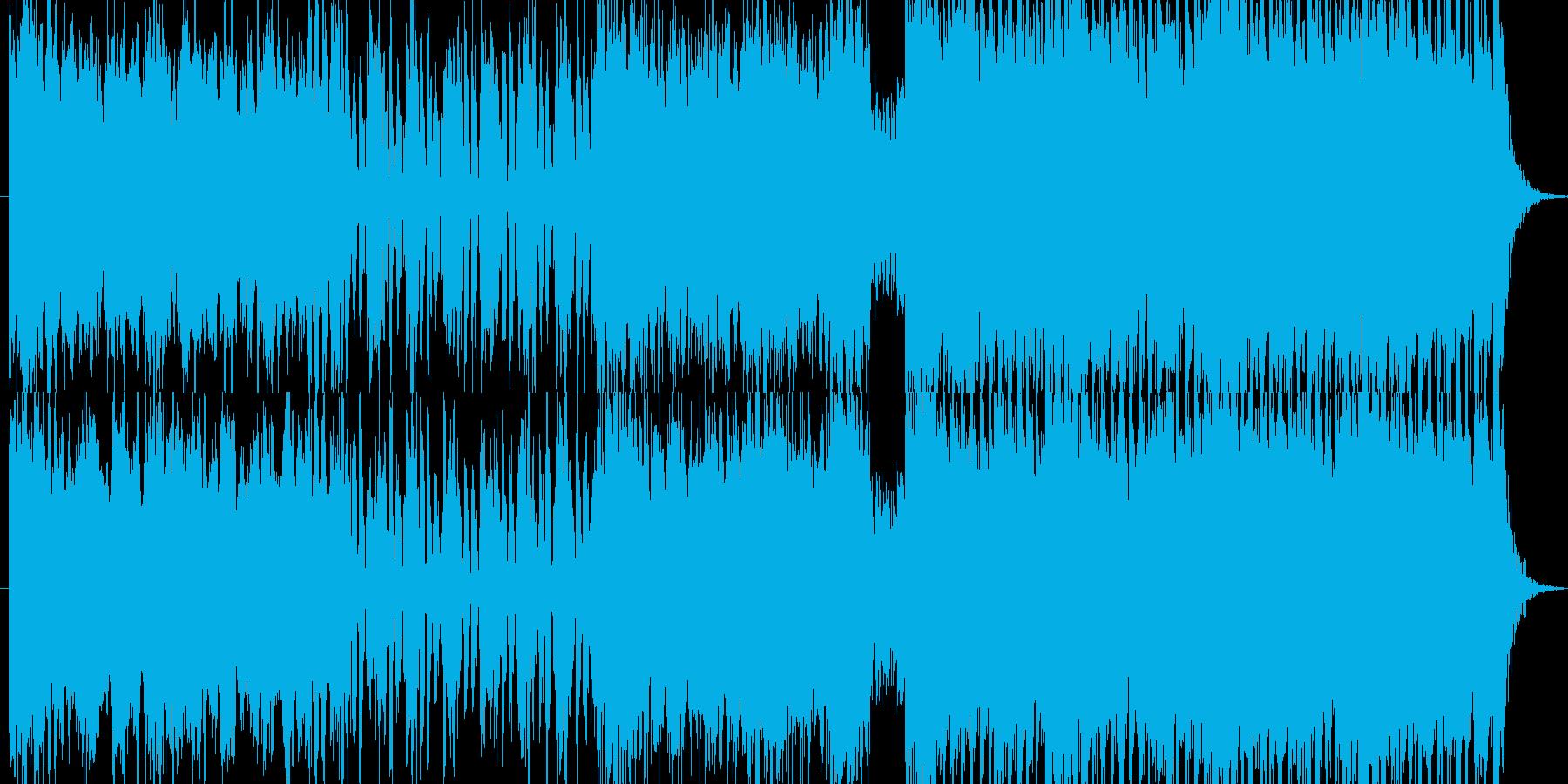 緩急のある爽やか系EDMの再生済みの波形
