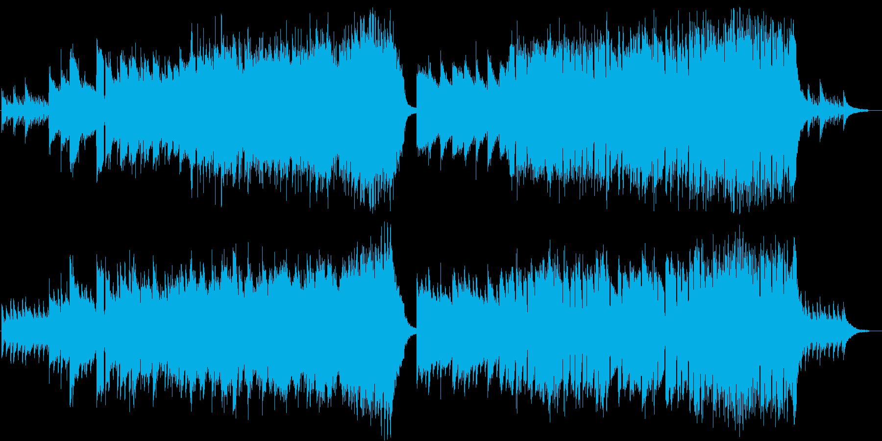 ピアノイントロから始まる希望に満ちた曲Aの再生済みの波形