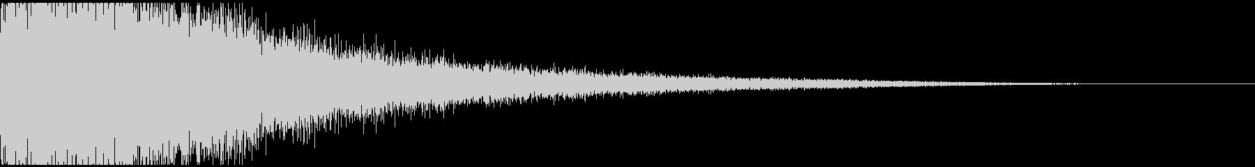 派手なドラの音(ヴァーン)2の未再生の波形