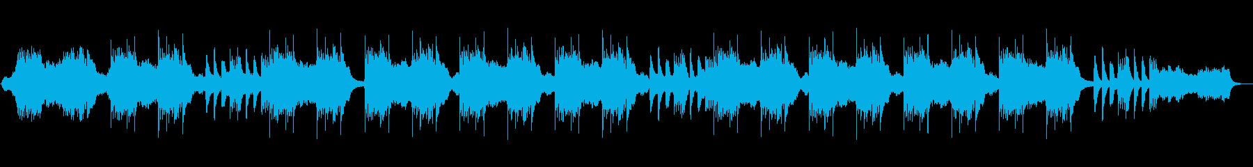 波音に合わせて奏でられたピアノヒーリングの再生済みの波形