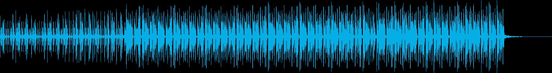 クールなテクノの再生済みの波形