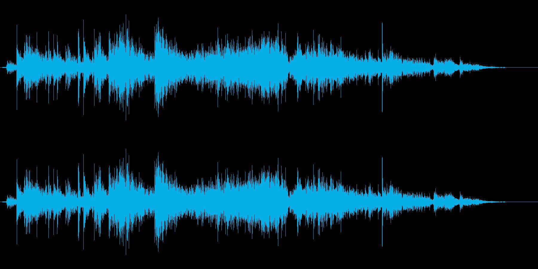 タンバリンの音(しゃん)の再生済みの波形