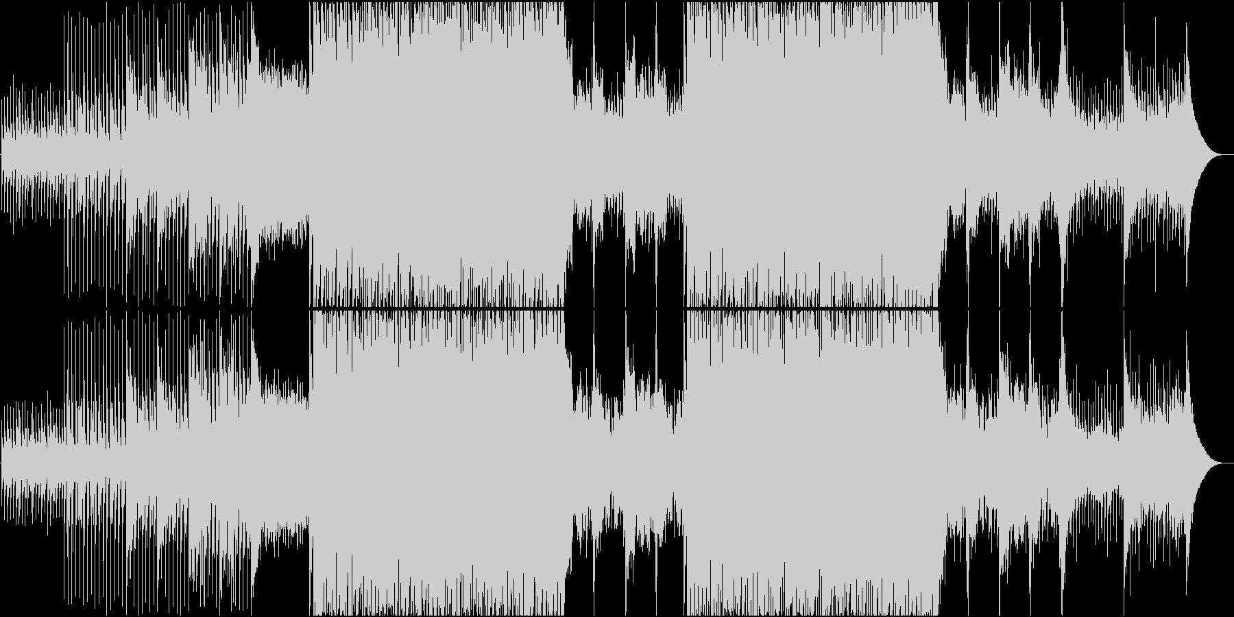 緩急のあるドラマティックEDM系BGMの未再生の波形