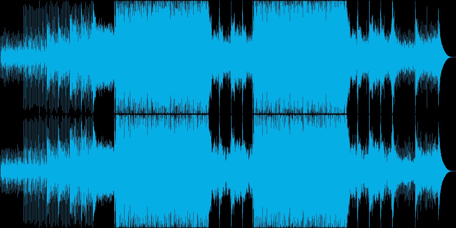 緩急のあるドラマティックEDM系BGMの再生済みの波形