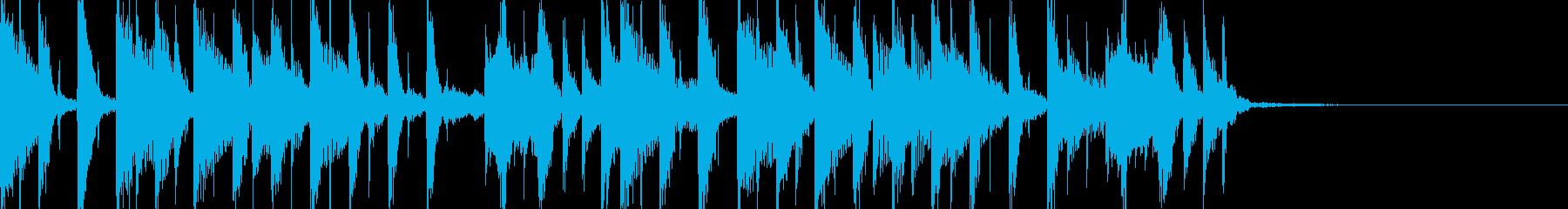 おしゃれ・テクノ・モダン11の再生済みの波形