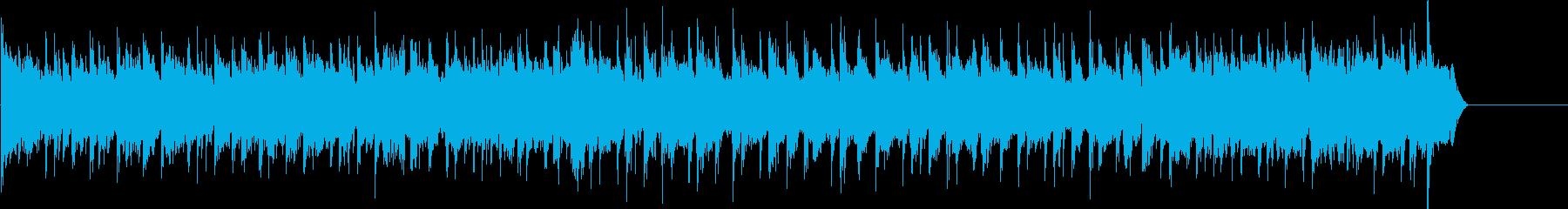 ジャングルビートの速いドラムをめぐ...の再生済みの波形