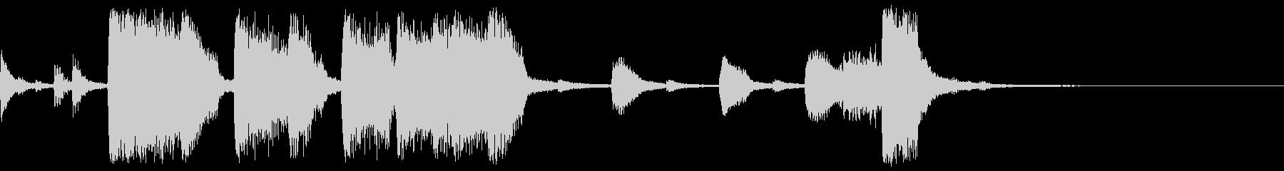 ビッグバンドのジャズ風エンディング 2の未再生の波形