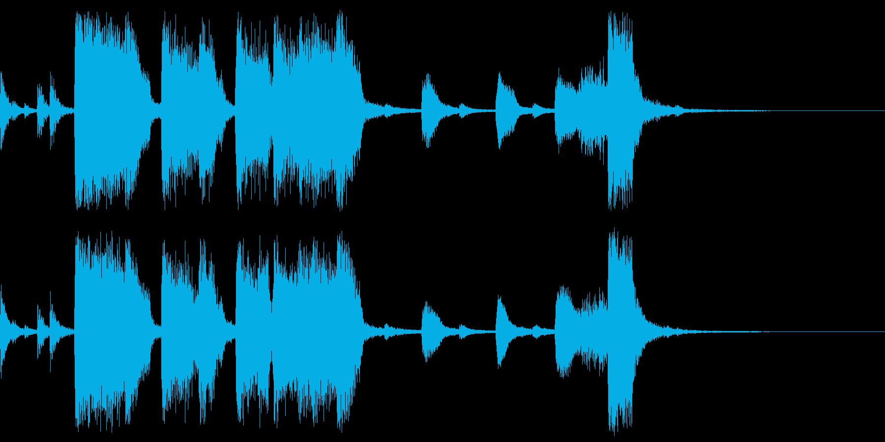 ビッグバンドの豪華なステージクリアBGMの再生済みの波形