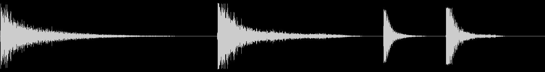 メタルドアインパクト、巨大X4の未再生の波形