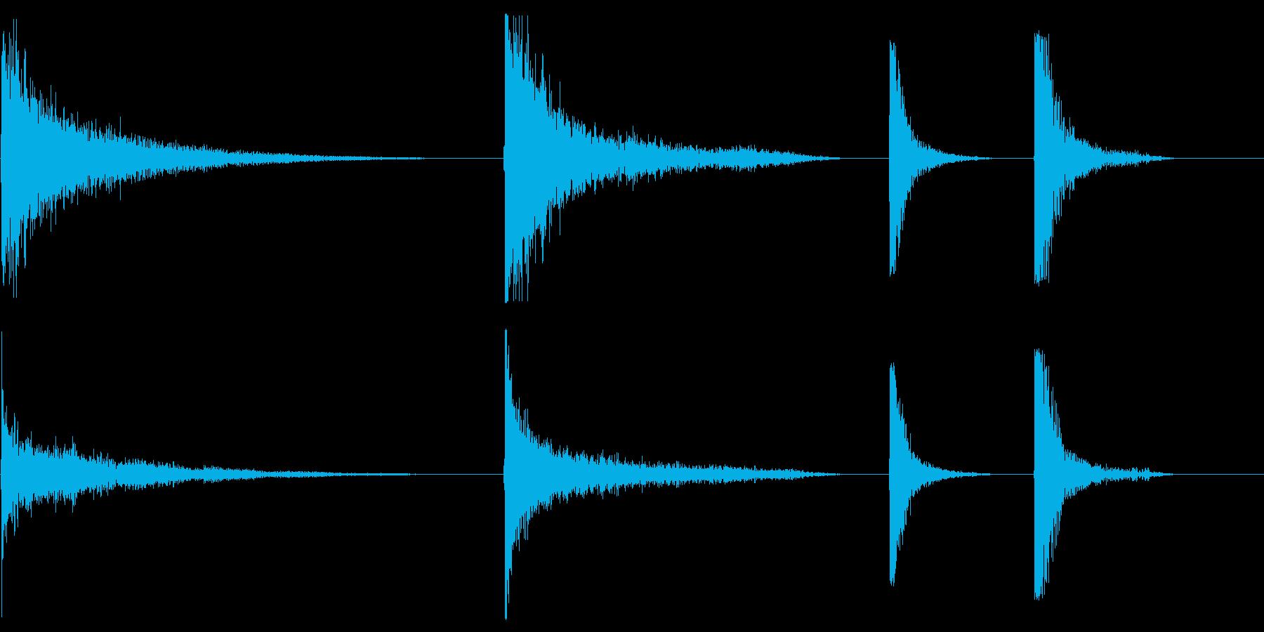 メタルドアインパクト、巨大X4の再生済みの波形