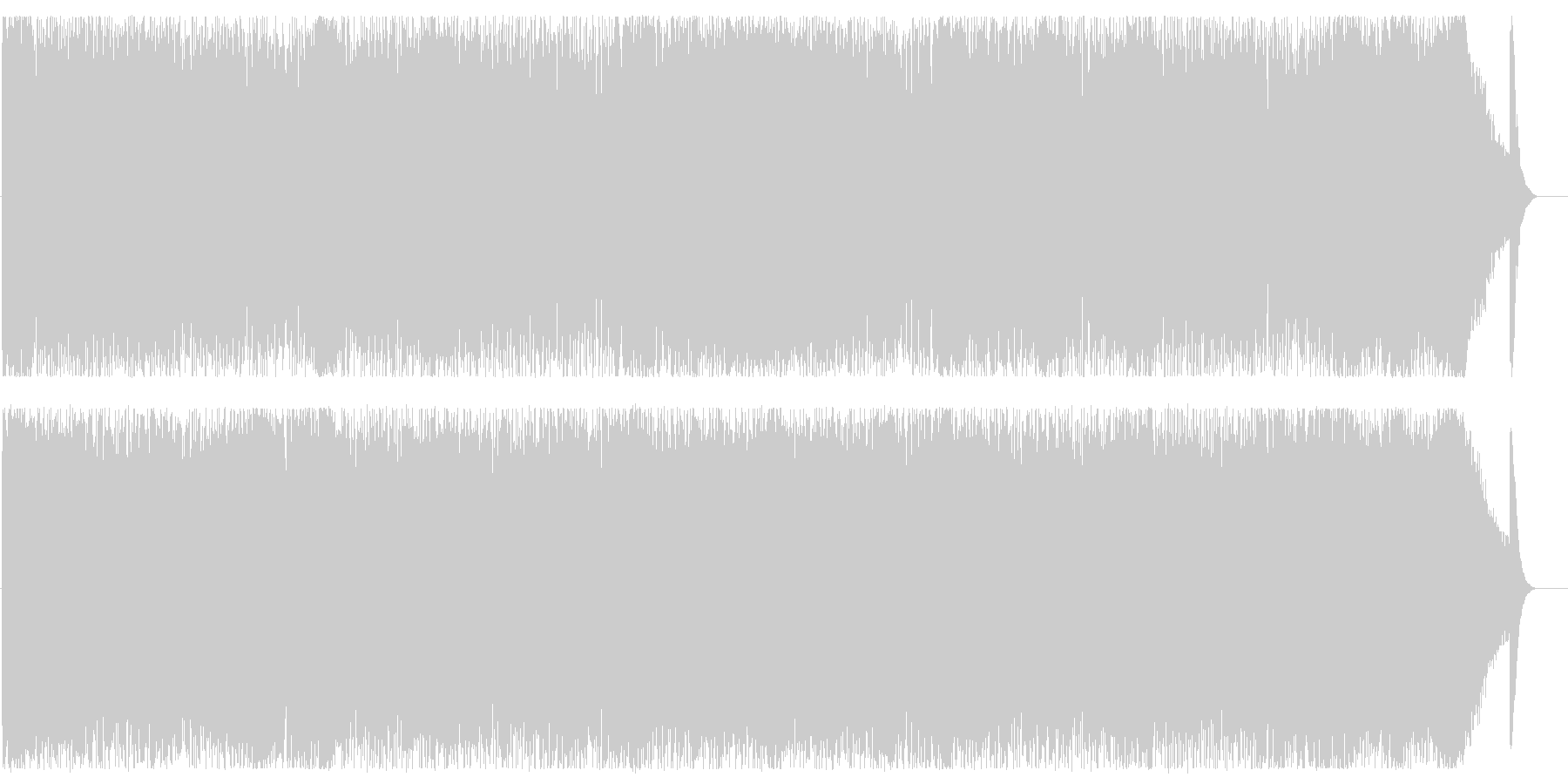 ヘヴィーサウンドの渋めロックの未再生の波形