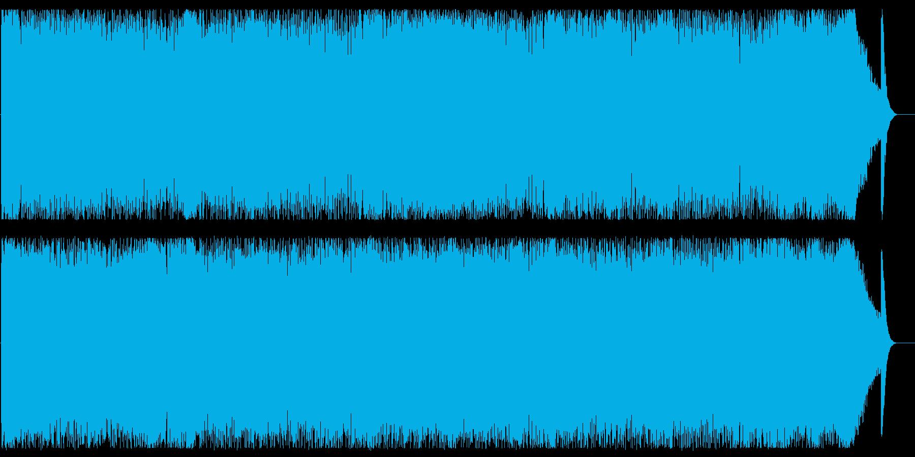 ヘヴィーサウンドの渋めロックの再生済みの波形