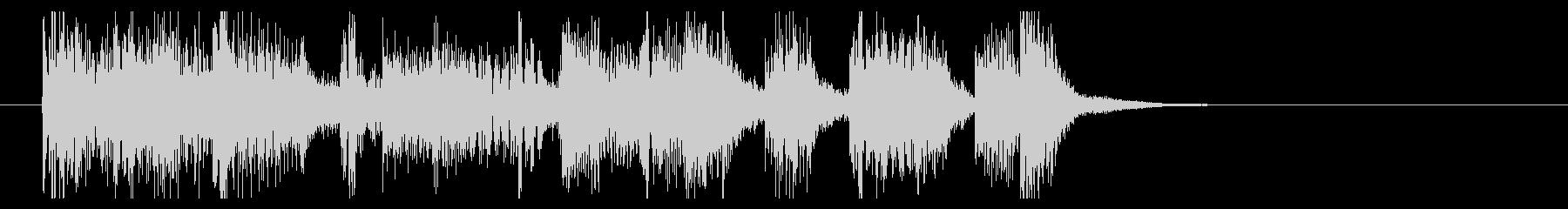 ヘヴィーでファンクなジングルの未再生の波形