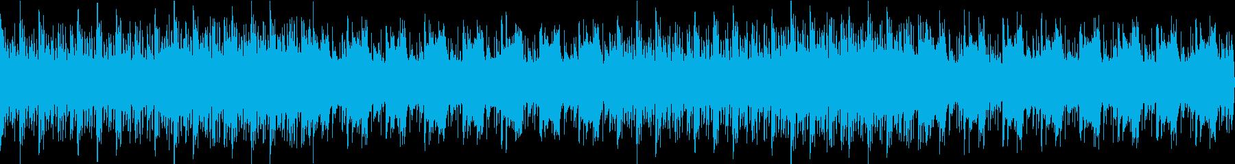 ピアノとシンセが目立つ儚いBGMの再生済みの波形