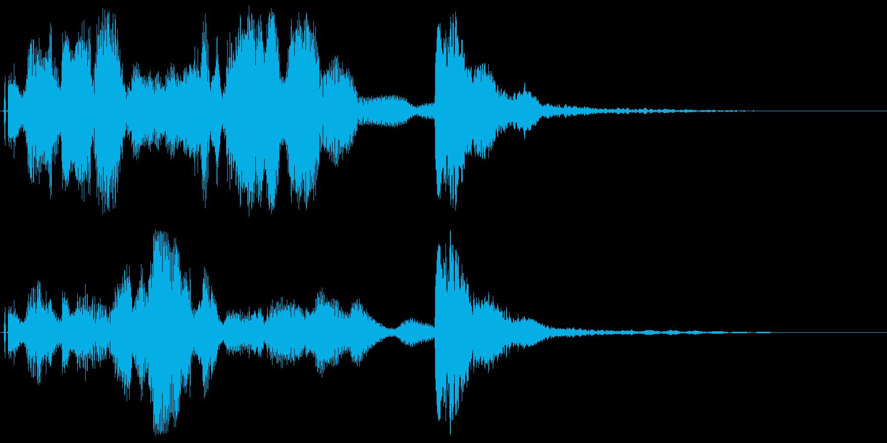 DJ,ラジオ系のサウンドロゴ,ジングル1の再生済みの波形
