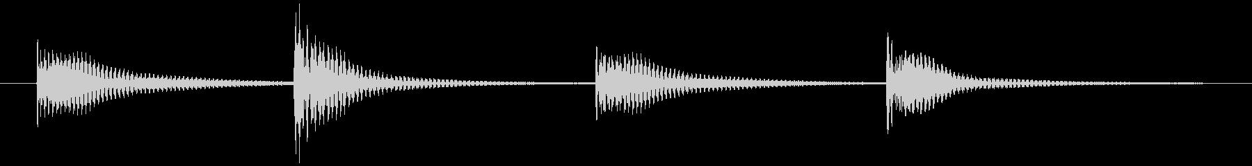 でんでん太鼓 (タンタンタンタン)の未再生の波形