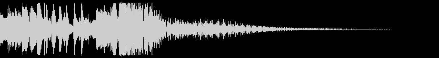 ピアノとストリングスのアルペジオジングルの未再生の波形