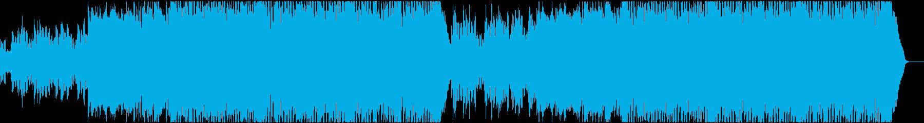 優雅な雰囲気ハウスEDMの再生済みの波形