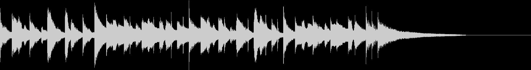 カフェ風ボサノヴァ ジングル3の未再生の波形