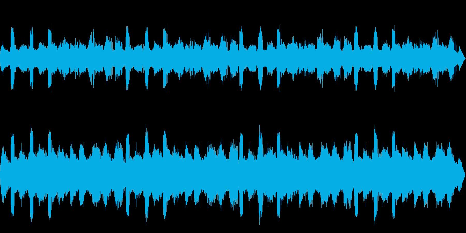 [バイノーラル録音]ヒグラシの鳴く森02の再生済みの波形