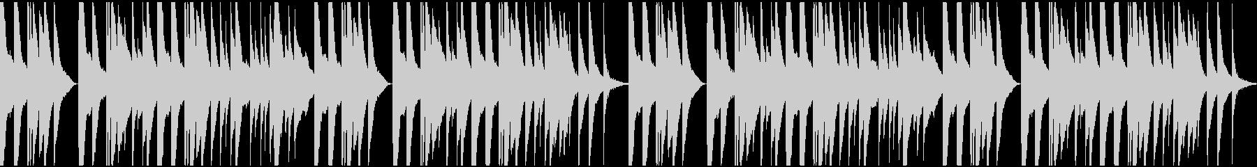 しんみりとした切ないオルゴールピアノの未再生の波形