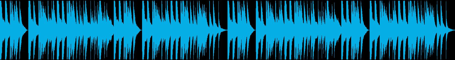 しんみりとした切ないオルゴールピアノの再生済みの波形