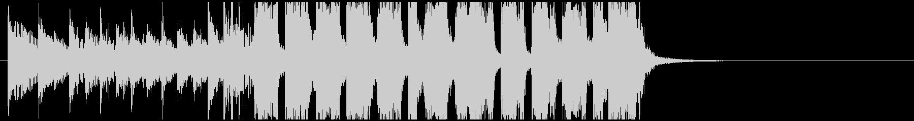 コミカルな感じのスカっぽいジングルの未再生の波形
