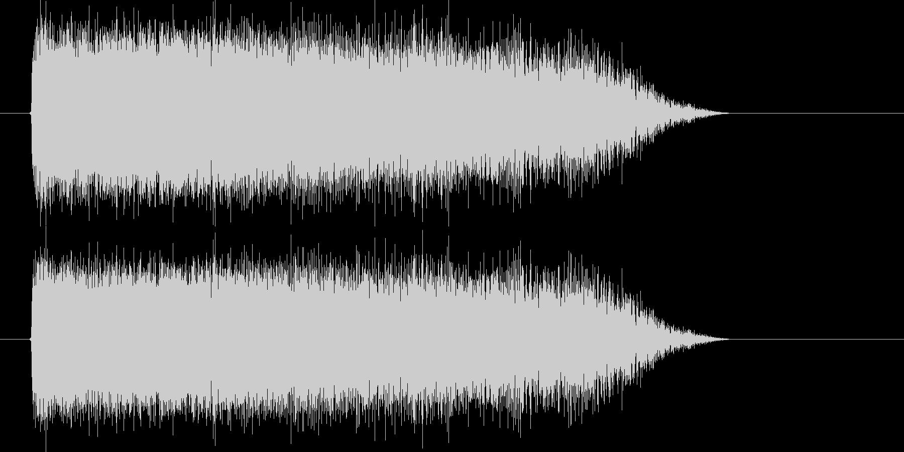 空間が歪むシンセサウンドの未再生の波形