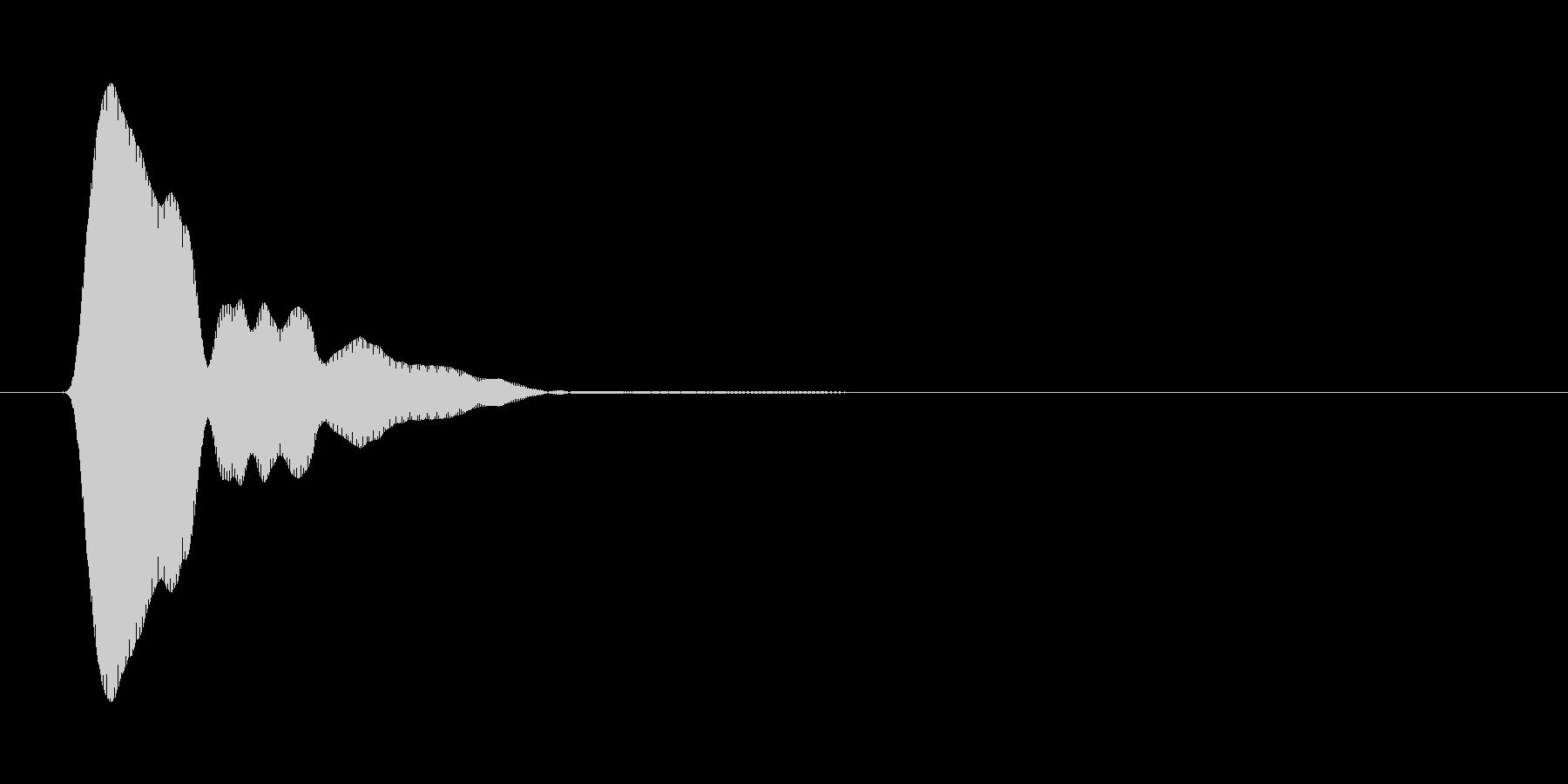 ぷう↓(マスコットが一息つく音)の未再生の波形