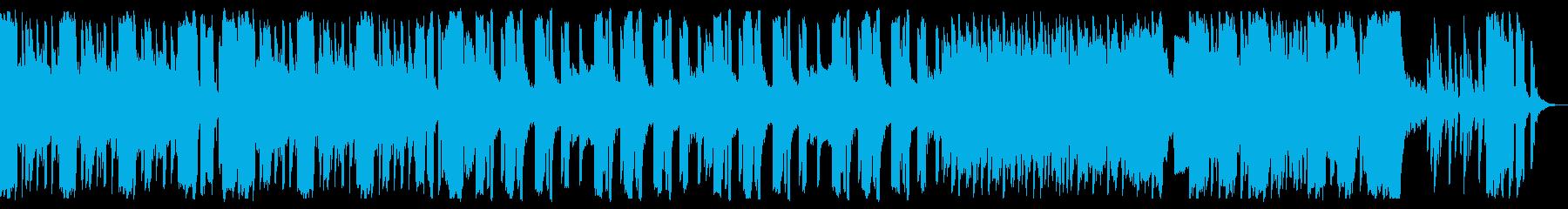 ミドルテンポで暗いハロウィン曲の再生済みの波形